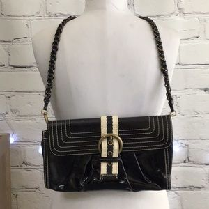 Moschino Cheap & Chic Black Patent Shoulder Bag